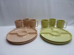 Vintage Plastic Picnic Lunch Dinnerware Set GOTHAMWARE