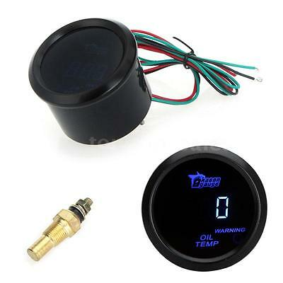 """Digital Oil Temp Temperature Meter Gauge Sensor Car 52mm 2"""" LCD 40~150°C J2K9"""