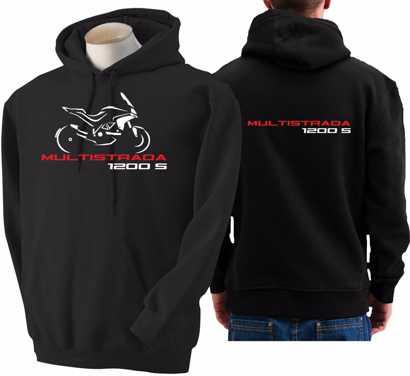 Hoodie for bike DUCATI Multistrada 1200s sweatshirt hoody Sudadera moto sweater