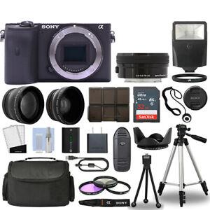 Sony Alpha a6600 Camera Body Black + 3 Lens Kit 16-50mm OSS+ 32GB + Flash & More