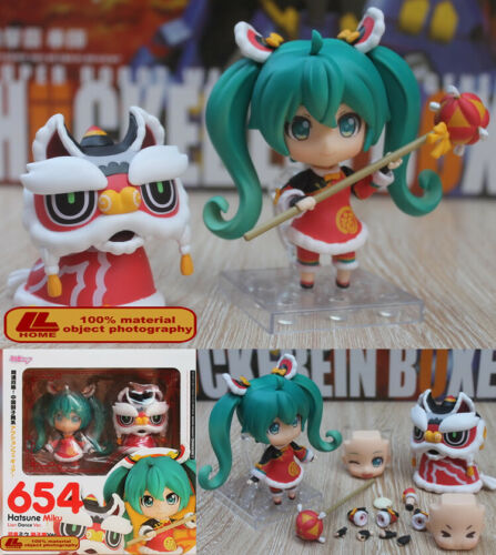 Anime Hatsune Miku Lion Dance Ver Q Model 654 Cute PVC Action Figure Toy Gift