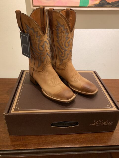 021f2c034b5 Lucchese Mens Kd6505.wf Tan Burnished Cowboy Western BOOTS Size 8.5