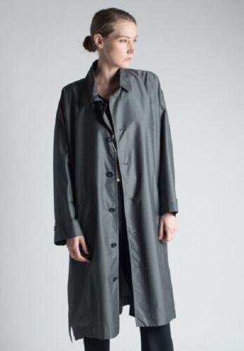 1690 New Long Coat 40 Rain Gray 1 Wool Polyamide Eskandar 60 42