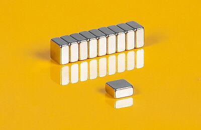 10 starke Neodym Magnete 8 x 8 x 4 mm Quader   N45   8x8x4mm