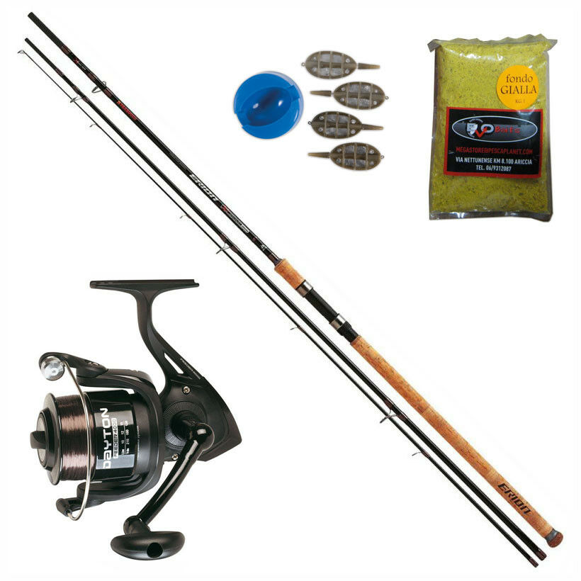 KP3240 Kit Pesca Feeder Canna Erion XT 3,60 m + Mulinello Dayton FDR 4000 CSP