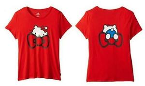 Converse-x-Hello-Kitty-Bow-Tie-Tee-RED-T-Shirt-Limited-Edition-Women-039-s-XL-XLARGE