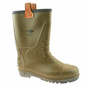 34c8cb0ab9f Details about DICKIES GROUNDWATER SAFETY WELLIES SIZE UK 6 - 12 MENS RIGGER  WORK BOOTS FW13200
