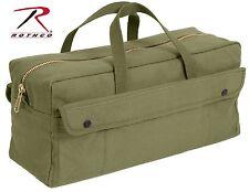 Rothco 7263 Canvas Jumbo Tool Bag With Brass ZIPPER - Olive Drab