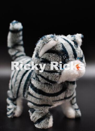 1 Walking Dog Pig Cat Toy Plastic Piggy Kitty Furry Cute Mechanical Plush Gift
