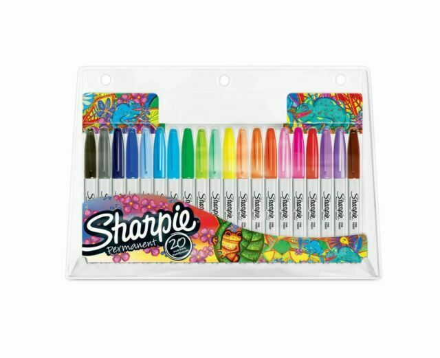 Sharpie Permanent Marker Pens ultrafine ultra fine GL94189  Pk 12 assorted