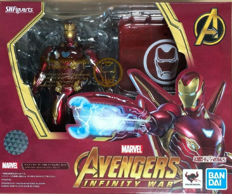 Marvel Avengers Infinity War IRON  uomo Mark 50 cifra SH Figuarts Beai Tamashii  il prezzo più basso