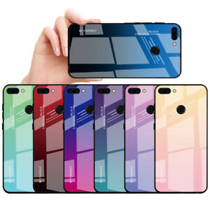 spedizione gratuita 89eac 021f0 Tempered Glass Gradient Phone Case For Huawei Honor 9 10 Lite 8X ...