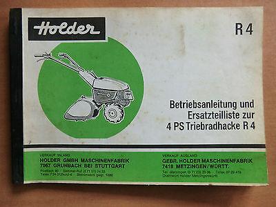 Holder R4 R7 Triebradhacke Ersatzteilkatalog 1976