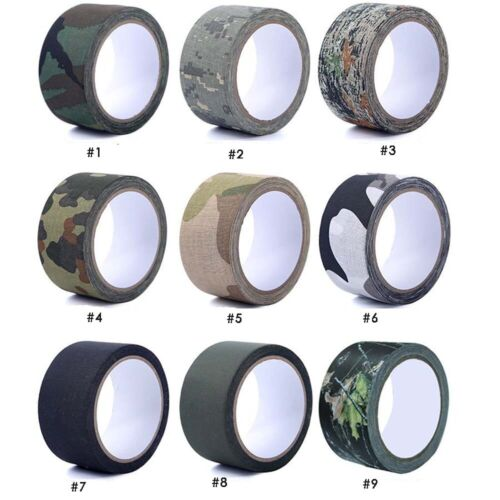 Camouflage tape Fabric Camo Tape Wrap Hunting Stalking sniper tape  5cmx5m
