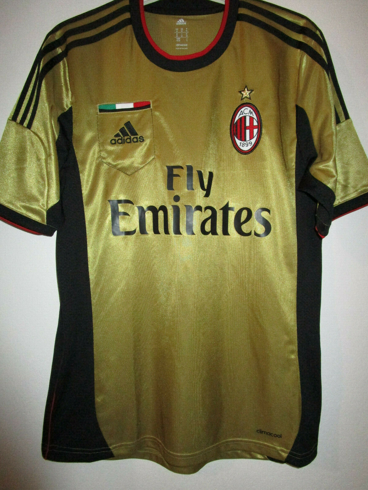 MAGLIA CALCIO MILAN 201314 THIRD ADIDAS SHIRT SHORT SLEEVE M ORIGINALE STORE