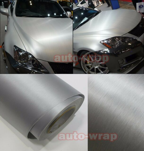 Car Metallic Matte Brushed Silver ALUMINUM Vinyl Sticker Decal BO All the Wrap