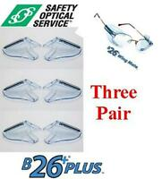 B-26+ Side Shields Ansi For Small/medium Rx Frames - (3 Total Pair)