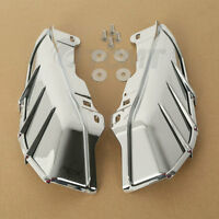 Chrome Mid-frame Air Deflector + Trims For Harley Touring Road King Glide 09-17