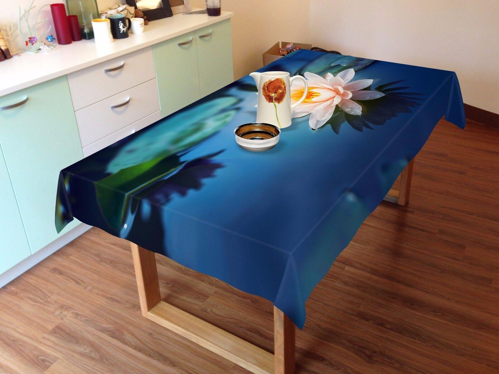 3D Lotu Rose Nappe Table Cover Cloth fête d'anniversaire AJ papier peint Royaume-Uni Citron