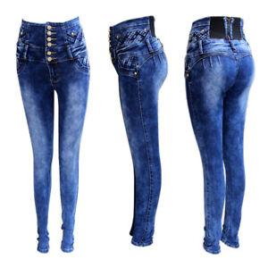 33989982ec3a Detalles de Vaqueros Push Up Baratos de cintura Alta / Jeans Levanta Cola  Horma Colombiana