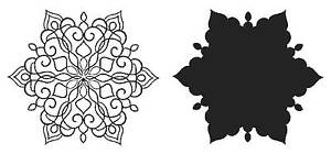 Fanciful-Snowflake-Set-of-Unmounted-Rubber-Stamps-SA7145