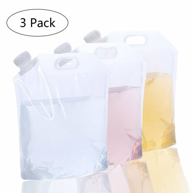 [3 Packs]5L Collapsible Water Container For