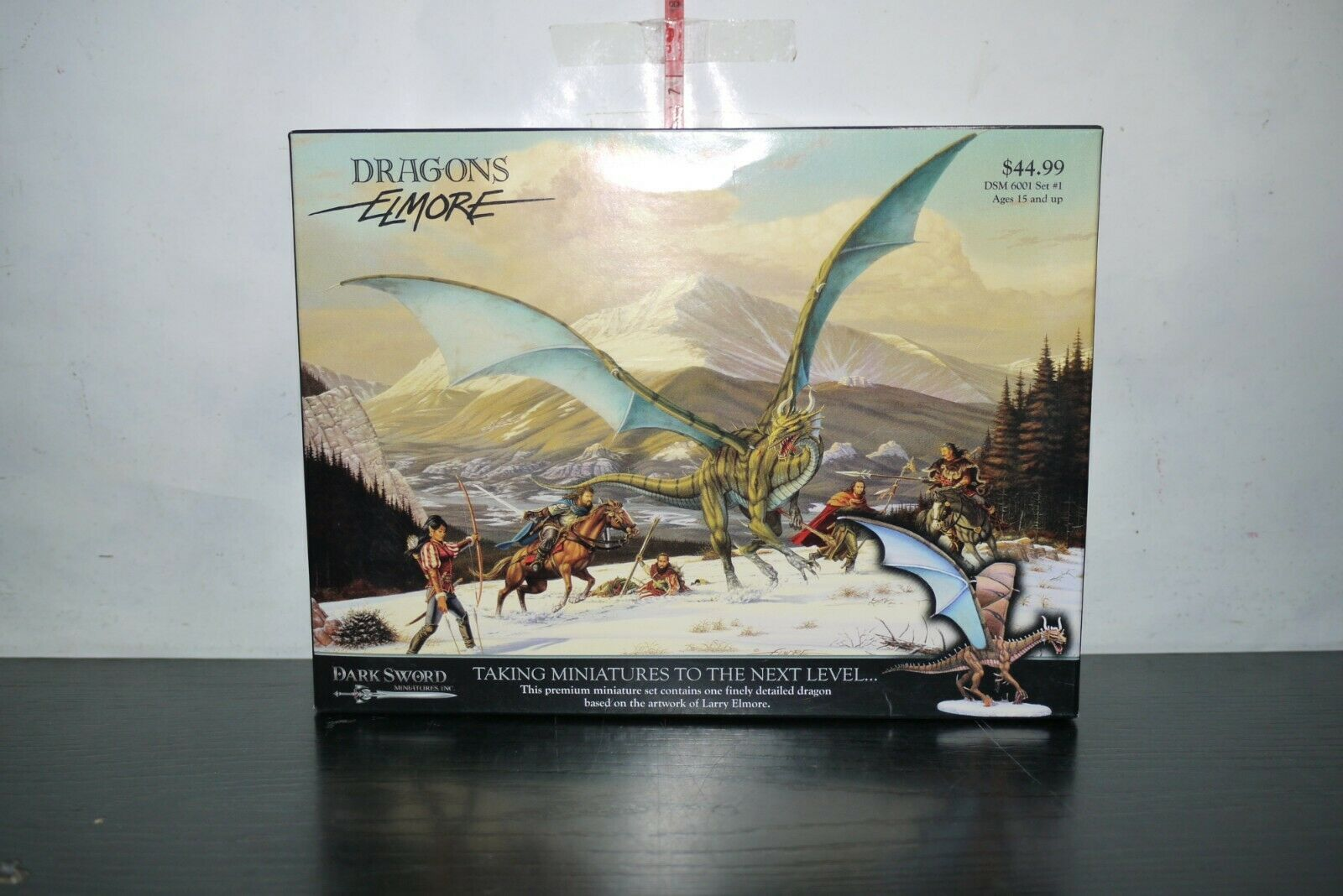 METAL GREEN DRAGON DARK SWORD MINIATURES ELMORE DSM 6001 SET BOXED