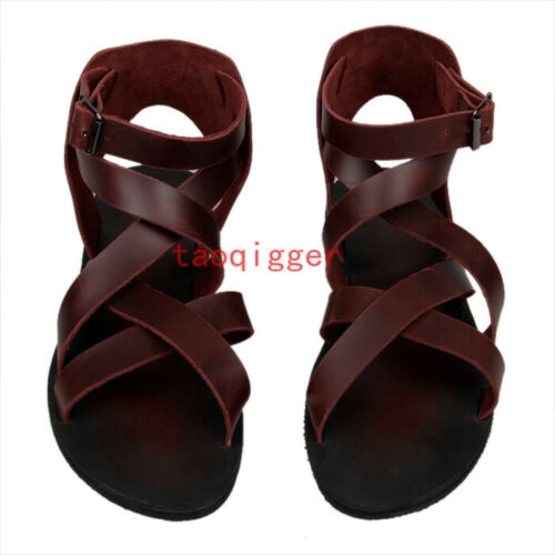 Mens Gladiator Strappy Sandals Open Toe High Top Unique Cool beach Shoes Pumps