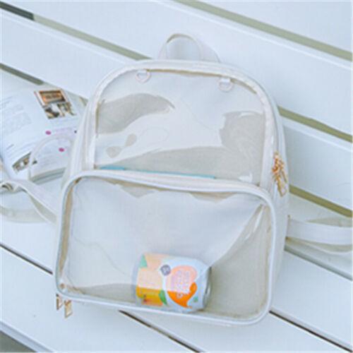 Black White CLEAR ita bag Transparent ita bag Display Backpack School Bag UK