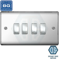 Deta Kitchen Grid Switch Polished Chrome / Black Switches - 4 Gang ...