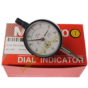 New-Mitutoyo-2046S-Dial-Indicator-0-10mm-X-0-01mm-Grad
