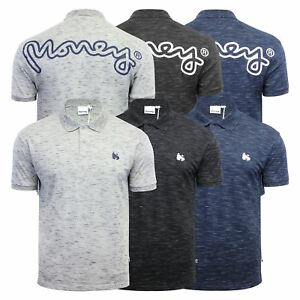 Mens-Polo-T-SHIRT-MONEY-toke-Rear-Printed-Short-Manche-Grindle-Collar-Casual-Top