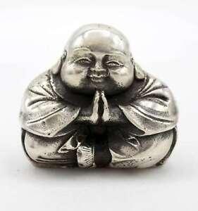 Cinesi-Hotai-Buddha-Figura-5-5cm-Bronzo-Portafortuna-Cina-AsienLifeStyle