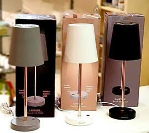 Lampada Ricaricabile Da Tavolo In 3 Diversi Colori Brandani Led Touch Altair Ebay
