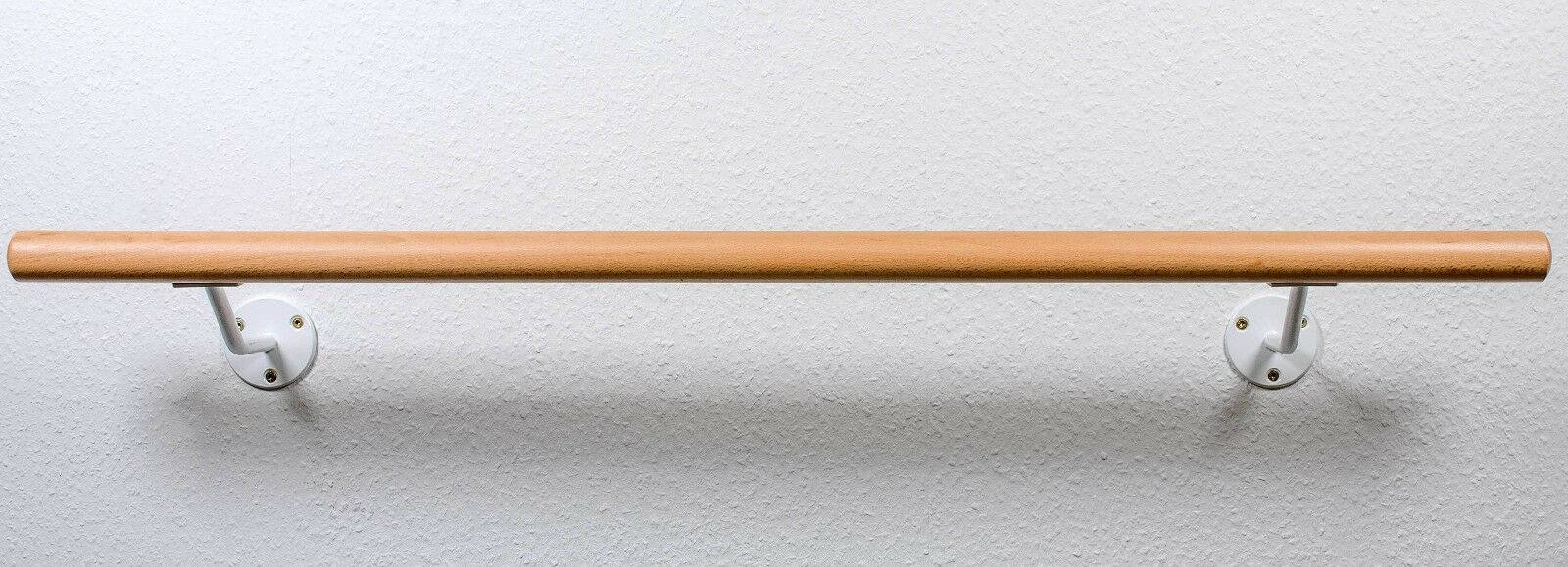 Ballettstange Holz 20cm Wandabstand weiße Wandhalter  21 Längen lieferbar lieferbar lieferbar 489321