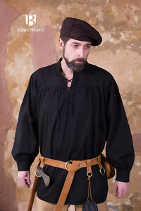 moyen-age-chemise-dentelle-stortebecker-Noir