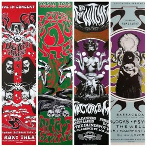 Gig-poster-lot-psychedelic-poster-The-Black-Angels-Roky-Erickson-concert-poster