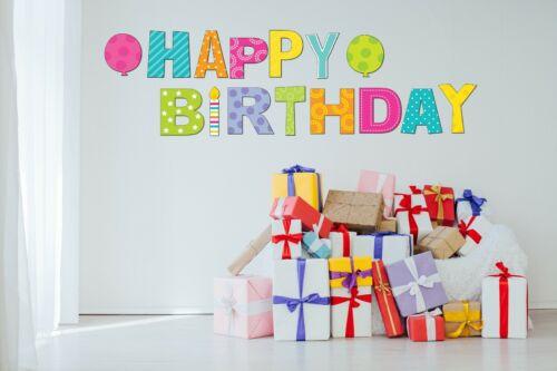 "Birthday Parade Bright Colors 15pc NEW 18/"" Tall Happy Birthday Yard Lawn Signs"