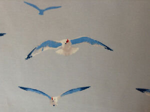 Amazing-rare-sea-gulls-on-blue-sky-fabric-drapery-curtains-drapes-panels-pair