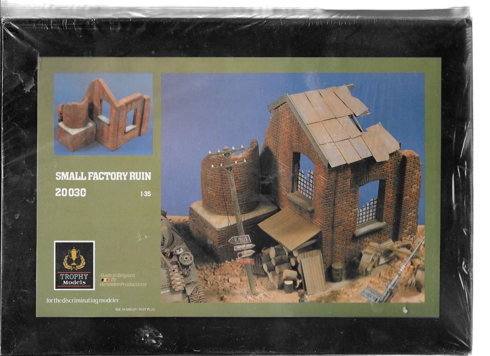 1 35 - 54mm  Verlinden Small Factory Ruins Ceramic Plaster Model Kit NEW