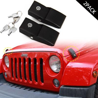 Jeep Wrangler Accessories 2017 >> Metal Locking Hood Lock Catch Latches For Jeep Wrangler Jk Accessories 2007 2017 Ebay