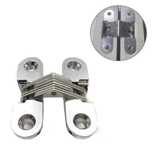 2pcs//lot Universal Zinc Alloy Hidden Cross Hinges Durable Concealed Door Hinges