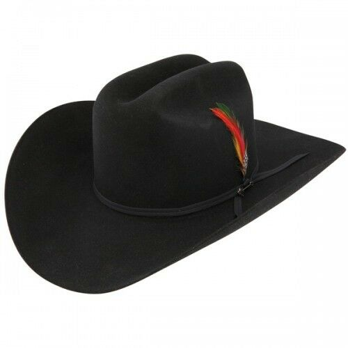 Stetson Cowboy Hat 6X Beaver Fur BLACK Spartan Free Brush+Shipping+No Tax Sale!