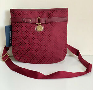 NEW-TOMMY-HILFIGER-RED-NORTH-SOUTH-CROSSBODY-MESSENGER-SLING-BAG-PURSE-69-SALE