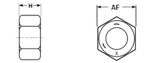 "etc. astro 4er Pack aduana 1//4/"" tuercas galvanizado-para fotografía vídeo"