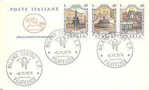 FDC-Cavallino-Italia-Repubblica-1974-Fontane-d-039-Italia-NVG-Milano