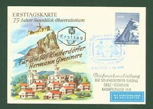 Osterreich-1961-Sonnblick-Hubschrauberpost-Airmail-by-Helicopter-1091-FDC