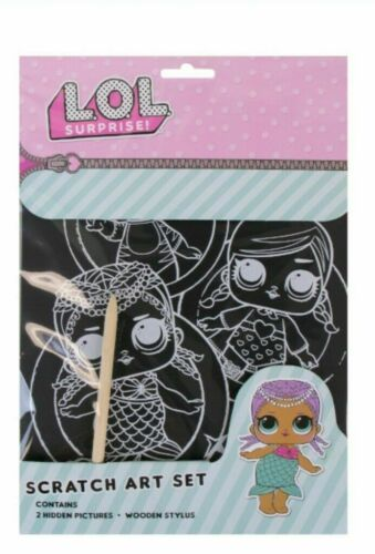 LOL Surprise Scratch Art Set Kids Crafting  2 Pictures NEW