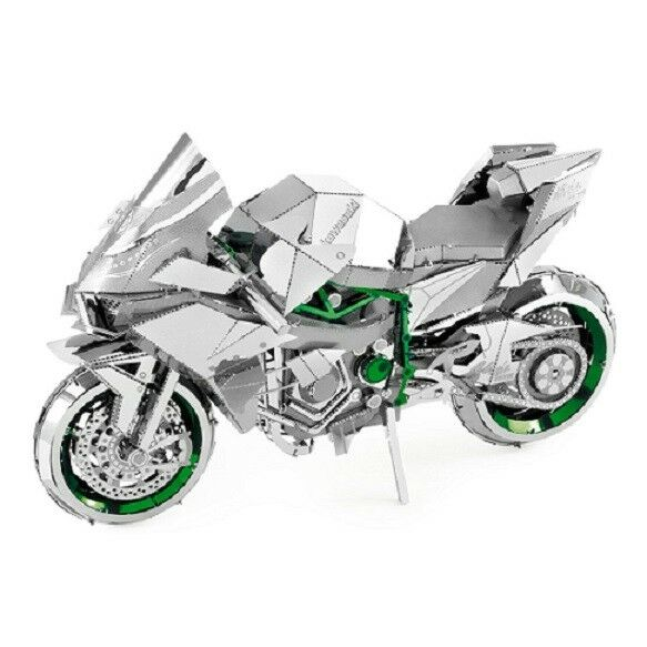 Kawasaki Ninja Green 50 Teile 3D-Metall-Bausatz ICONX Metal Earth 1321