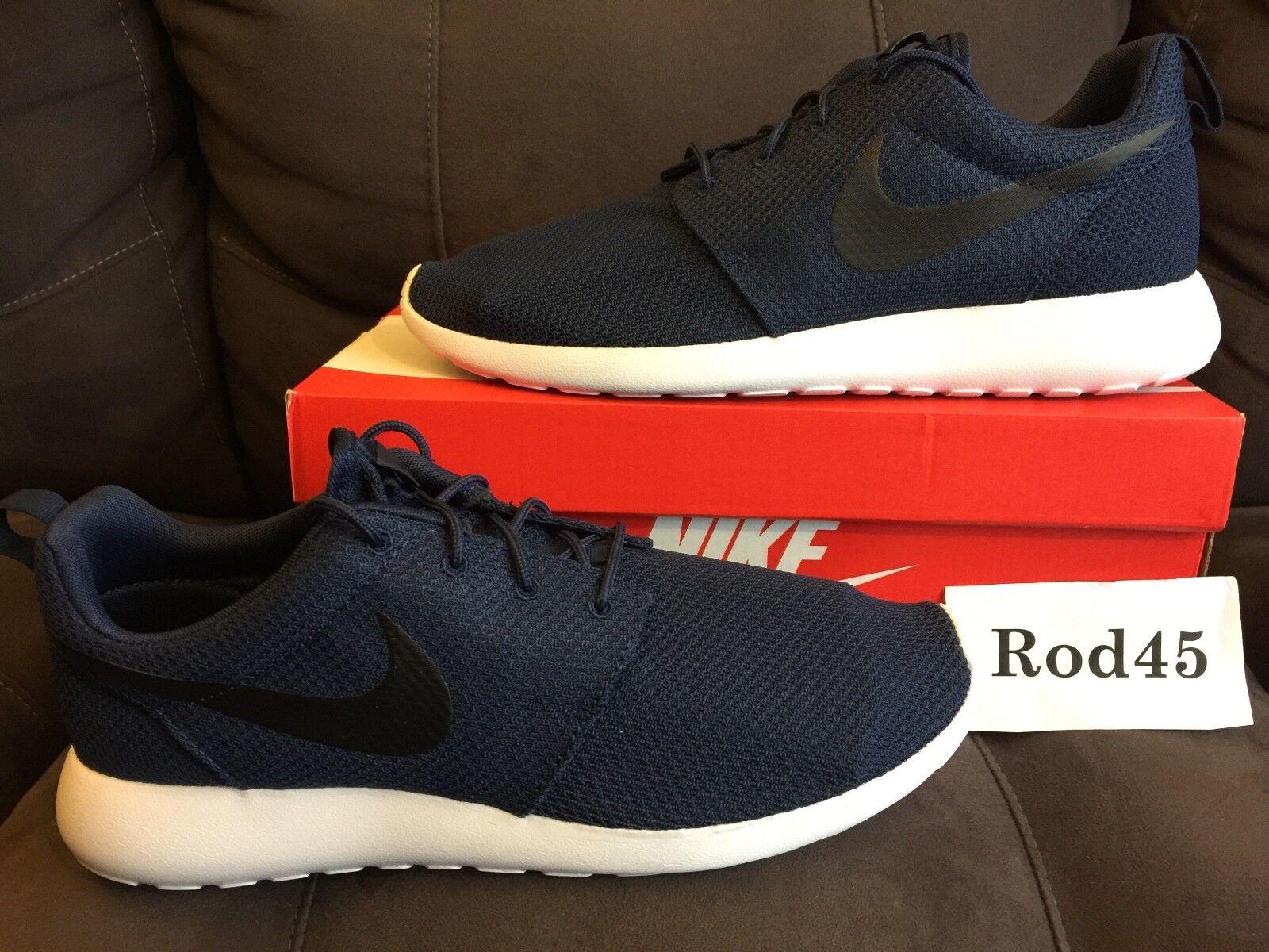 Nike Roshe One Run Rosherun Midnight Navy bluee White 12 running